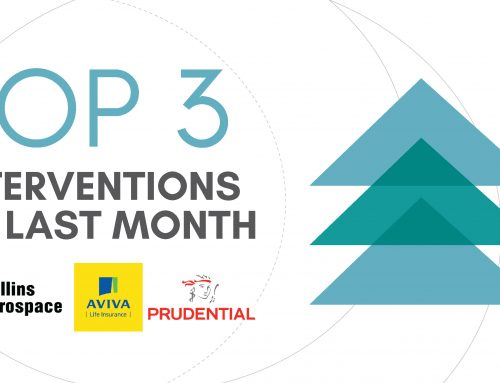 Collins Aerospace, Aviva Life & Prudential Global – Our Top 3 Interventions of last month